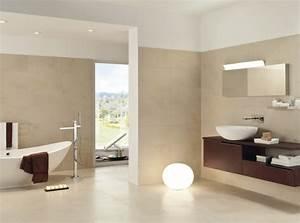 peinture salle de bains pour agrandir l39espace restreint With carrelage adhesif salle de bain avec lampe suspension design led