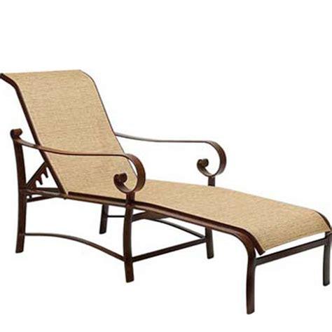woodard 62h470 belden sling adjustable chaise lounge