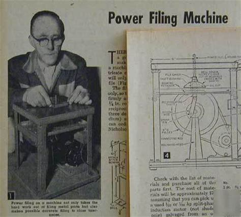 die filing machine how to build plans from stock metal