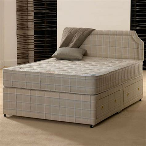 Bed Mattress by 4ft 6 Orthopaedic Divan Bed With Mattress Ebay