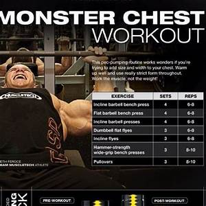 Chest Workout Routine Image By Julian Brise U00f1o On Bodybuilding Motivation