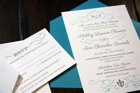Letterpress Wedding Invitations Houston