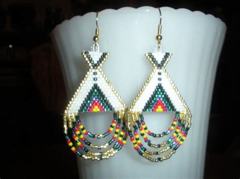 Native American Beaded Earring Pics
