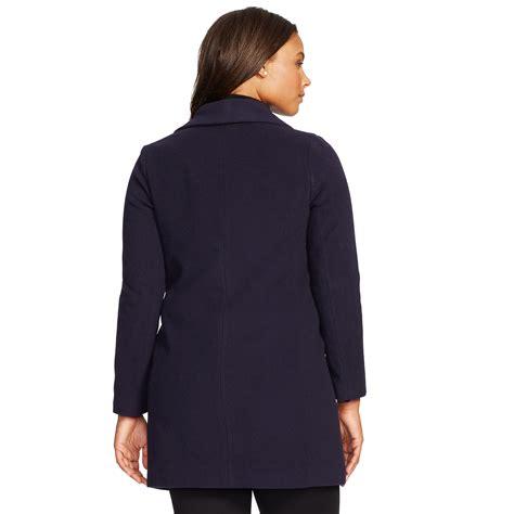 Banana Republic Draped Wool Coat - ralph wool draped coat in blue lyst