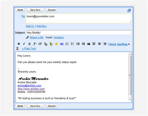 Gmail Signature Template Gmail Signature