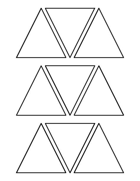 triangle template for kid craft best 25 triangle template ideas on pinterest layout
