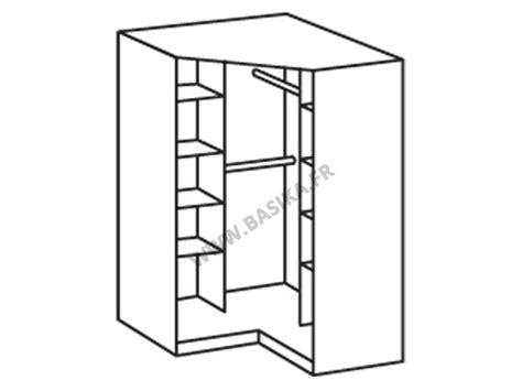 armoire de chambre blanche armoire d angle avec miroir gamma blanc 139