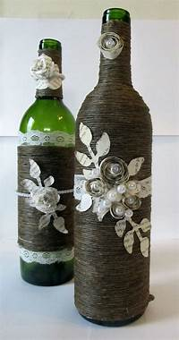 decorating wine bottles 34 Awesome Ideas for Decorating with Wine Bottles