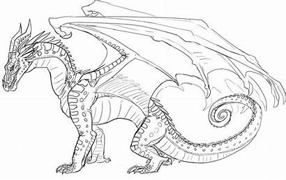Wings Fire Coloring Pages Sketch Dragon Dragons