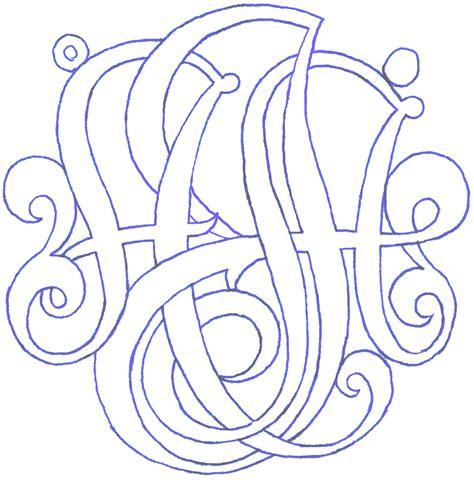 bunzie  monogram pendant