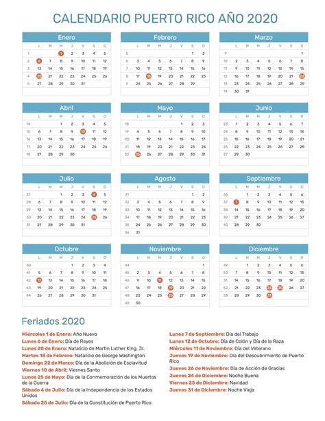 calendario de puerto rico ano feriados