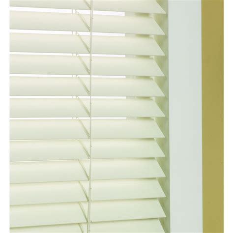 faux wood blinds lowes shop custom size now by levolor 1 5 in dover faux wood