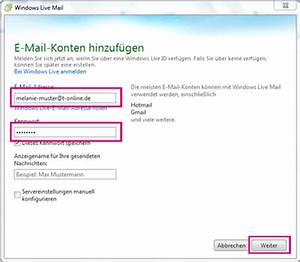 Telekom Rechnung Online Abrufen : e mail adresse in windows live mail einrichten telekom hilfe ~ Themetempest.com Abrechnung