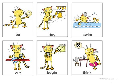 Irregular Verbs Flashcards Part 1 (from App Worksheet