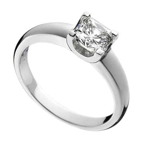 design a ring platinum princess cut ring design no 1r54a