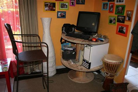 fauteuil bureau 10 idées récup de touret pour le décor astuces bricolage