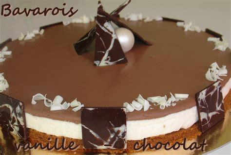destination gourmandise bavarois vanille chocolat sur