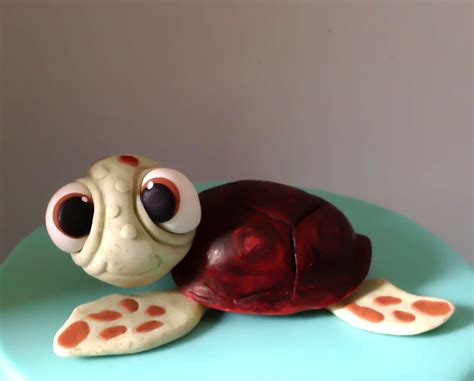 Turtle Cake Decorations - fondant or gumpaste turtle cake topper works by