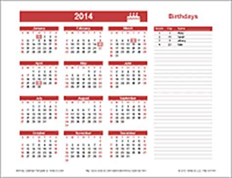 birthday reminder calendar template printable