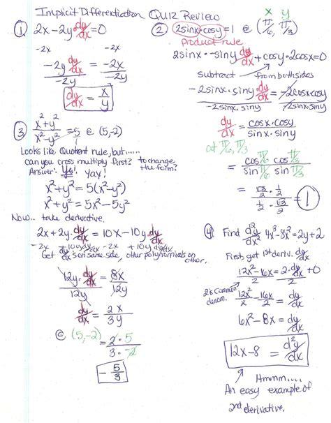 implicit differentiation worksheet   worksheets