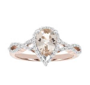 jcpenney wedding rings sale jcpenney modern blooming bridal genuine pear morganite and 14k gold infinity