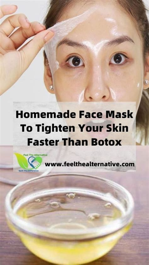 It's the perfect daily cleanser. Homemade Face Mask To Tighten Your Skin Faster Than Botox ...