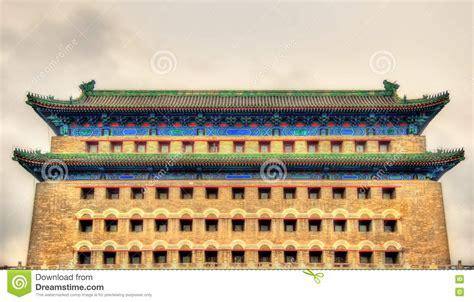 arrow tower in zheng yang gate beijing stock photo