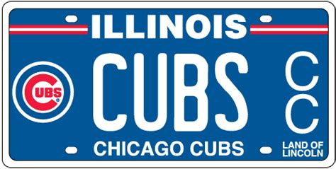 Vanity Plates In Illinois by Chicago Cubs License Plates