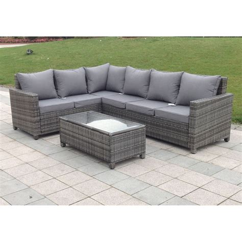 Rattan Sofa Garten by Rattan Outdoor Corner Sofa Set Garden Furniture In Grey