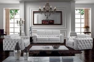 zonka tufted leather sofa set modern living room