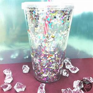 Verre Avec Paille : verre licorne paillet avec couvercle et paille rigide sur logeekdesign ~ Teatrodelosmanantiales.com Idées de Décoration
