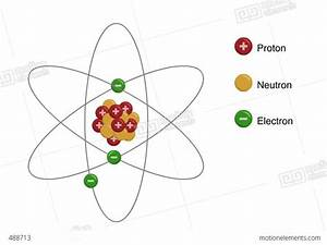 Animated Structure Of An Atom Stock Animation