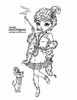 Coloring Flapper Pages Deviantart Jadedragonne Lineart 1920 Colouring Books Drawing Drawings Peacock Line Printable Background Adult Metacharis Tattoo Sheets Blank sketch template