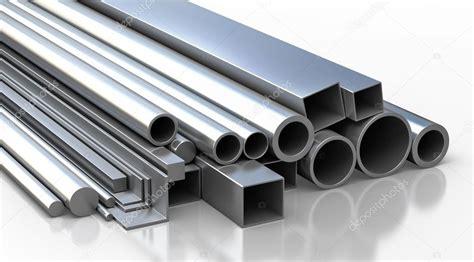 metal pictures set of metallic construction materials stock photo
