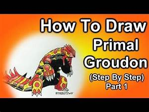 Copic speed draw Primal Groudon and Primal Kyogre ゲンシグラ ...