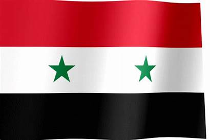 Flag Syria Waving Syrian Flags Stars