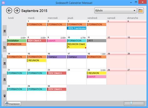 calendrier mensuel plug  pour sodeasoft planning pro