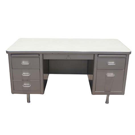 metal desk for 5ft vintage steelcase metal tank desk pedestal