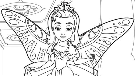 Princess Amber In Sofia The First Coloring Page Art 16766