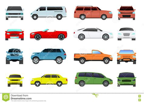 Automobile Showroom Set. Vector Illustration