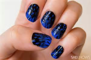 Gallery for gt nails designs blue and black