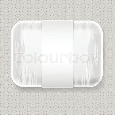 Free mockups and design tools. White Empty Blank Styrofoam Plastic ... | Stock Vector ...