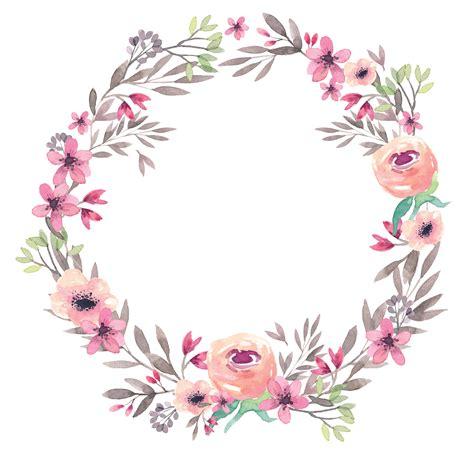 Corona De Flores Acuarela Png Sin Fondo Flores Imagenes