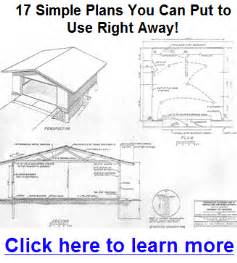 diy garage building plans free plans free
