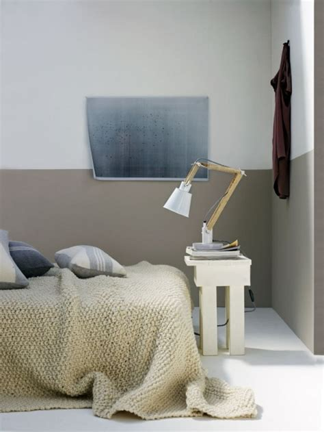 Custom paint color may be applied over surface. The Latest Decor Trend: 29 Half-Painted Wall Decor Ideas - DigsDigs