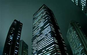 Skyscrapers in night wallpapers and images - wallpapers ...