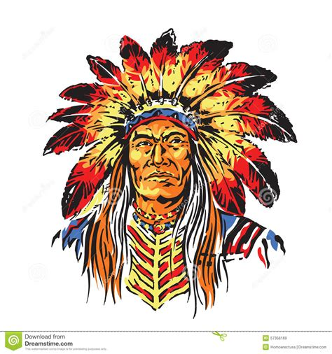 Indian Chief Image by Indian Chief Stock Vector Image 57356169