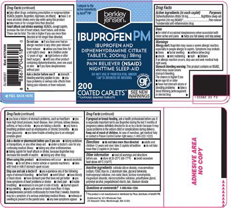 Dailymed Berkley And Jensen Ibuprofen Pm