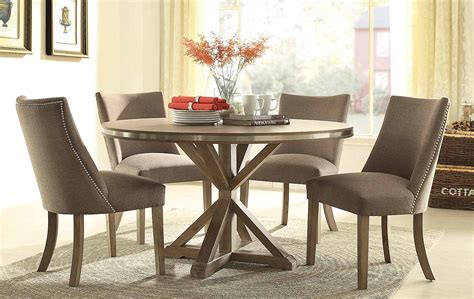 Homelegance Beaugrand Round Dining Set   Brown 5177 54