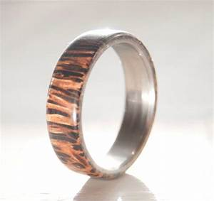 mens wedding band coconut palm wood band staghead designs With coconut wedding rings